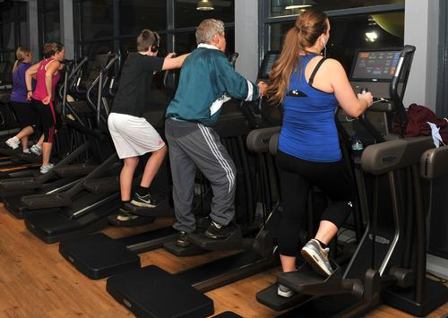 Members work up a worthwhile sweat as their workouts provide power for the leisure centre