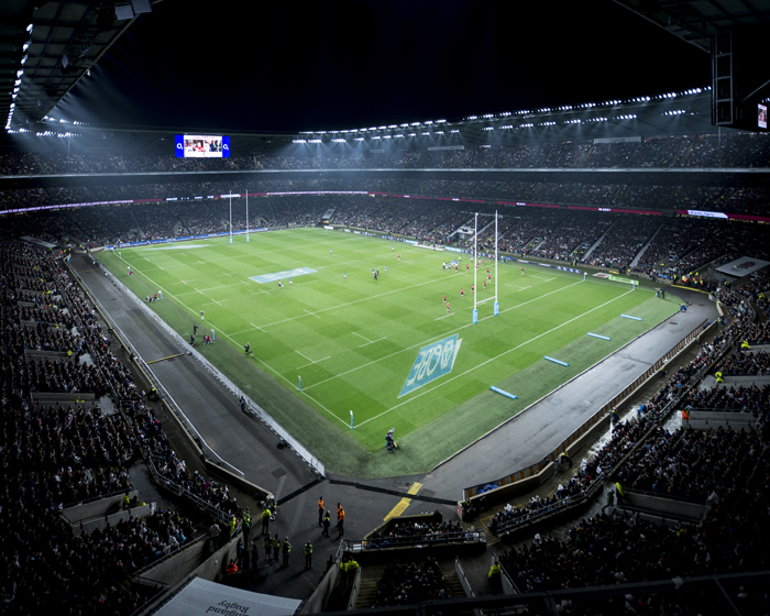 LED lights shine bright at Twickenham