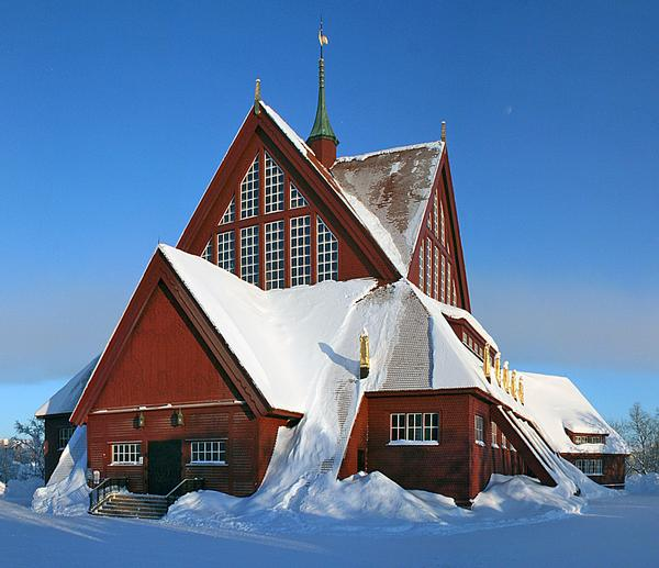 Kiruna's historic church / PHOTO: Heinz-Josef Lücking via Wikimedia Commons