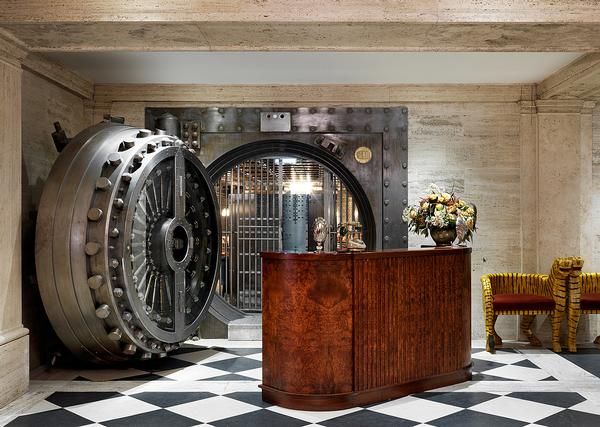 The Vault Door leads to The Ned's members' club, housed in the former bank strongroom