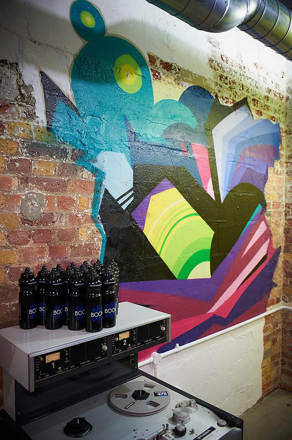 Creative agency The Outdoor Collective, which specialises in street art, created graffiti murals for the gym