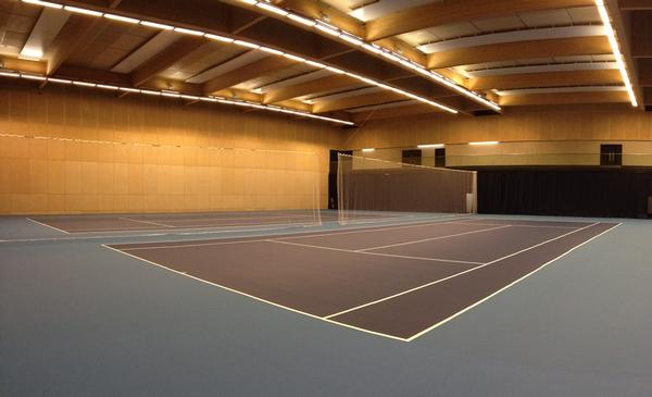 The QE Olympic Park venue includes four indoor and six outdoor tennis courts