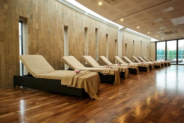 Separate branding makes the spa stand out from the rest of the centre