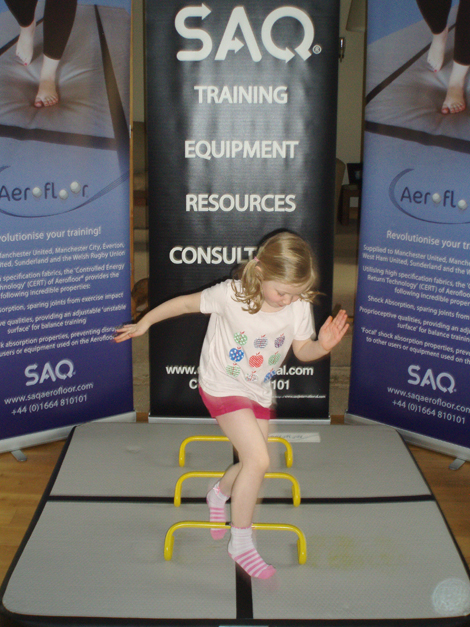 SAQ offers an air-filled functional training mat suitable for use by children