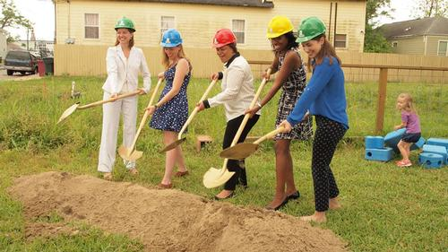 The groundbreaking ceremony took place on 7 April / PlayBuild NOLA