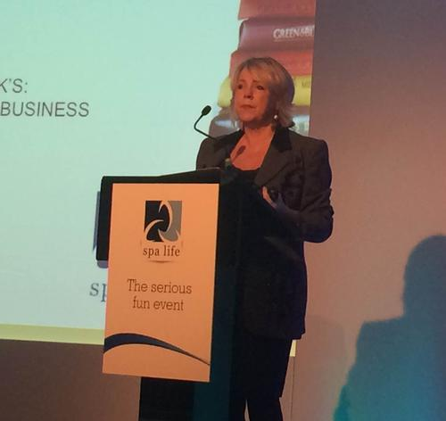 Jo Fairley was one of two keynote speakers at the 2015 Spa Life UK