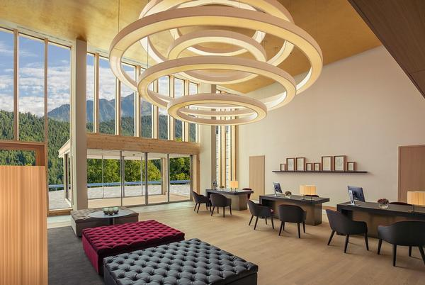 The Waldhotel's rooms have been placed to allow as much natural light as possible to enter