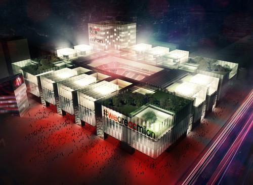 Initial designs for the proposed 48,000-capacity stadium were created by Arup