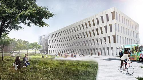 1200 Intrepid Avenue presents a double curved façade that echoes the geometries of maritime architecture / BIG - Bjarke Ingels Group