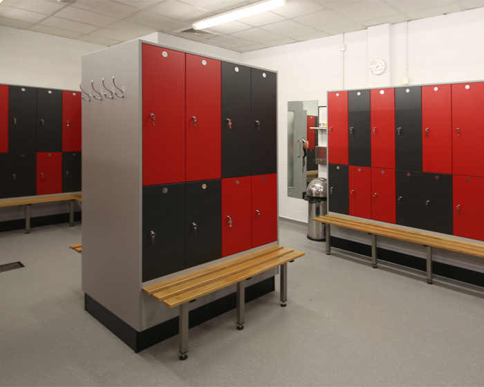 Crown lockers add 'degree of difference' at UWE Centre for Sport