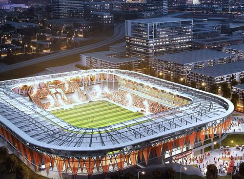 The stadium will be designed by architects HNTB