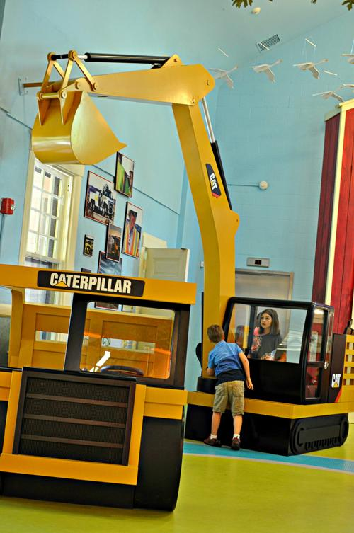 In the PlayHouse's construction exhibit, children will donn hard hats and tool belts, taking up the role of a builder / Jack Rouse Associates