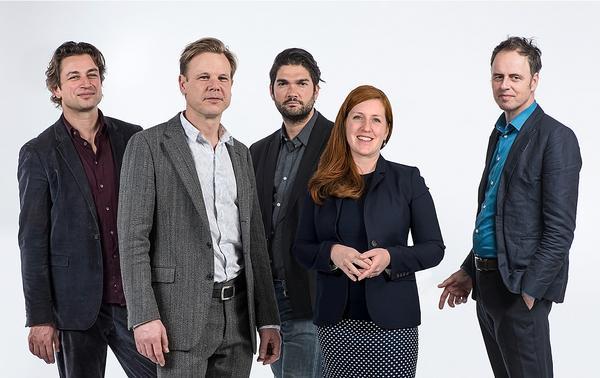 The West 8 leadership team from left  to right: Edzo Bindels, Martin Biewenga,  Daniel Vasini, Claire Agre and Adriaan Geuze / Photo: ©Carel van Hees