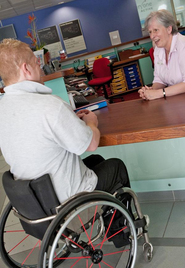 Staff need training to ensure they feel comfortable talking to people with disabilities / photo: © Activity Alliance