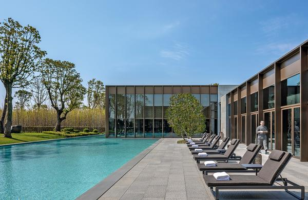 The 2,840sq m spa and wellness centre is set around an impressive courtyard