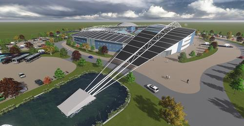 The stadium has been designed by the Frank Whittle Partnership