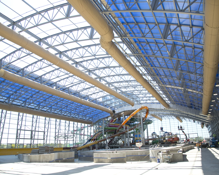 Epic Waters water park features a 62,000 sq ft OpenAire retractable roof