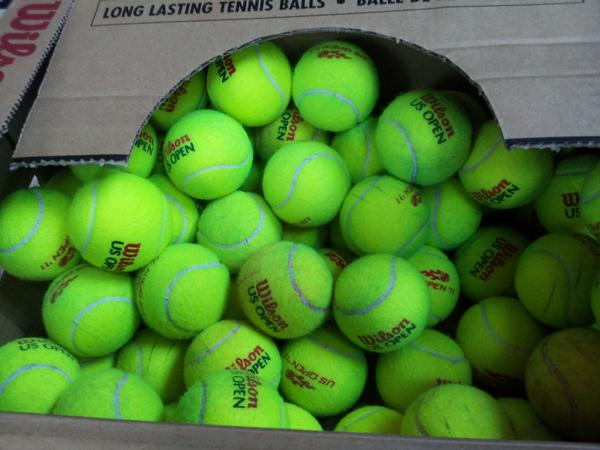 All US Open balls will be donated to clubs