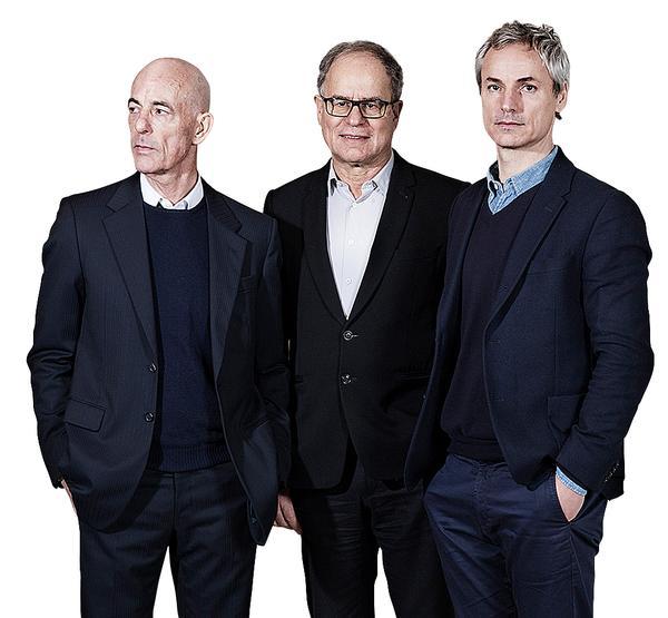Left to right: Jacques Herzog, Pierre de Meuron, Ascan Mergenthaler / Photo: Maxim Schulz