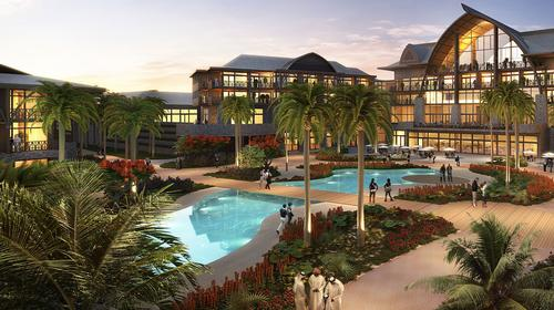The hotel is named after a pre-historic Pacific Ocean people and will thus draw inspiration from Polynesian tropical landscapes / Dubai Parks and Resorts