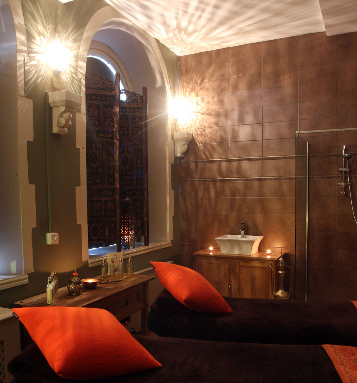 The spa's interior design is based on the couples' experience of other Moroccan spas and Banyan Tree spas in Thailand / Metro.co.uk