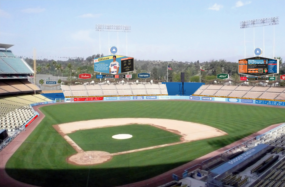 An artist's impression of the improved Dodgers stadium