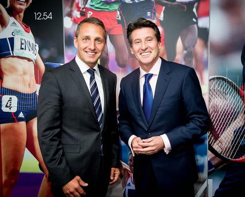 Fitness First's UK managing director Martin Seibold (left) and BOA chair Lord Sebastian Coe launch the new partnership