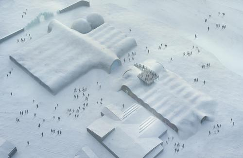 The new building will act as an extension to the winter Icehotel / PinPin Studio