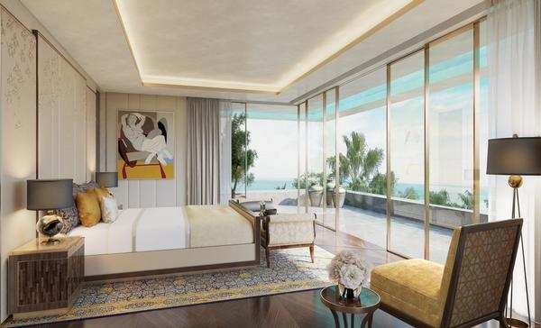 Vastu points to bedrooms which are designed using a brown colour palette