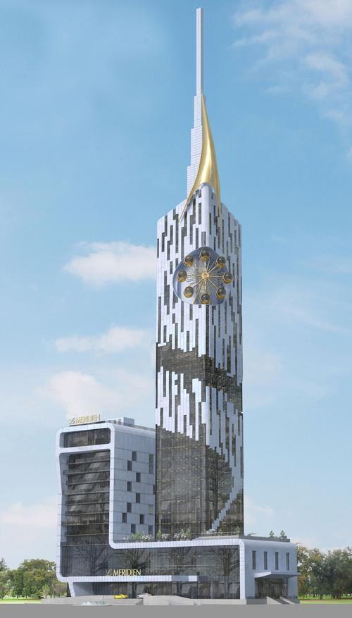 Batumi Tower features a unique eight-cabin carousel wheel on the 27th floor / Le Meridien