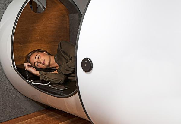Several fitness studios in the US have added sleep pods to their facilities Image courtesy of Podtime.