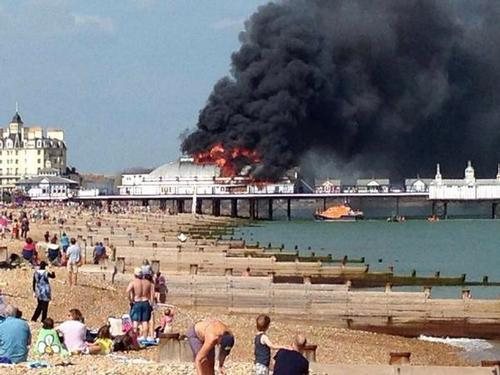 BREAKING: Fire rips through Eastbourne Pier