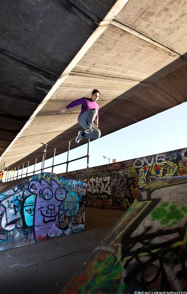 Parkour was developed in the urban landscapes of Paris and has since spread across the world