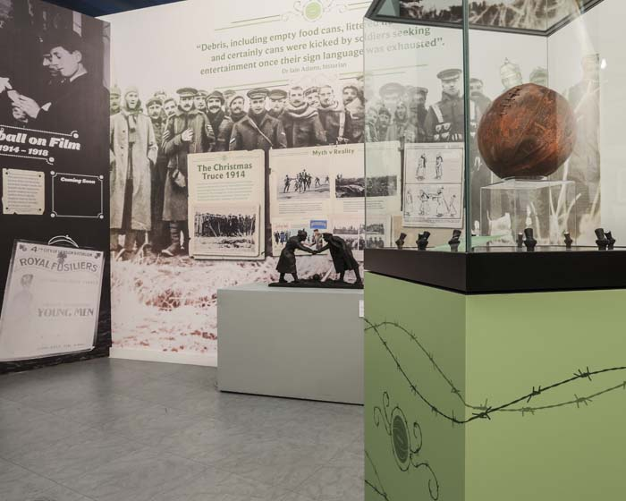 Mather & Co designs WW1 exhibition for National Football Museum