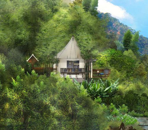 The resort will be designed to encourage guests to unwind and 'become as one with the serene natural surroundings' / Rosewood