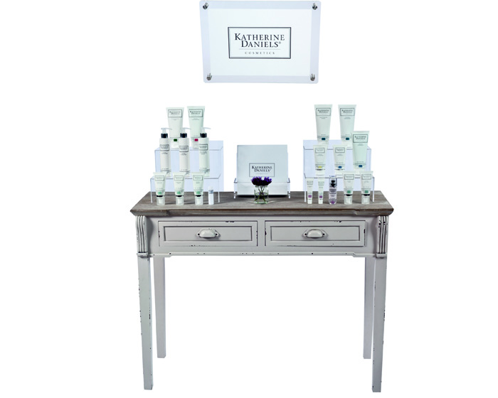 Tester stand puts Katherine Daniels brand on full display
