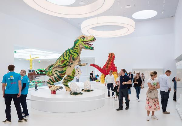 Lego House's Masterpiece Gallery houses large models made by Lego fans