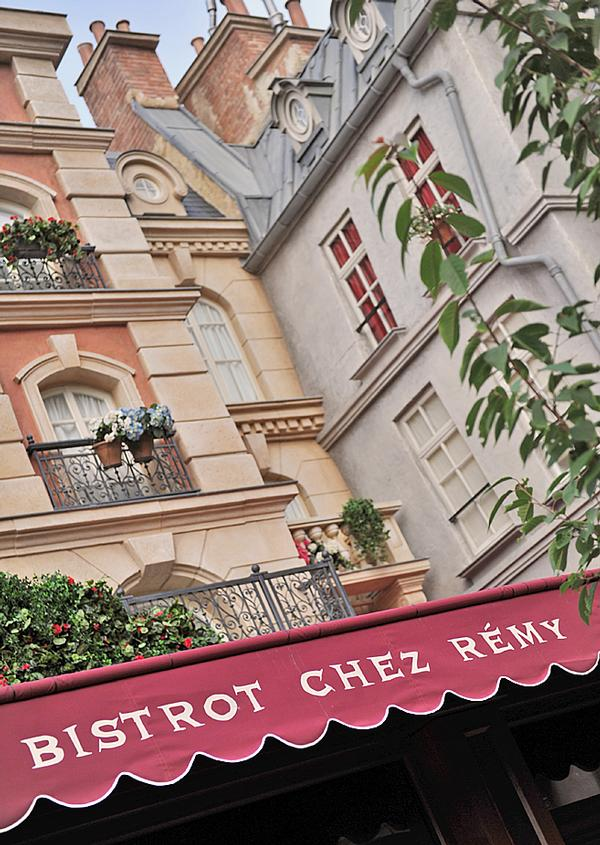 The décor at Disneyland Paris' Bistrot Chez Rémy imitates the restaurant in Disney-Pixar's film