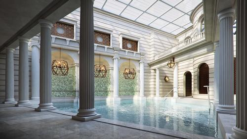 Visitors to the hotel will be able to bathe in Bath's famous thermal waters