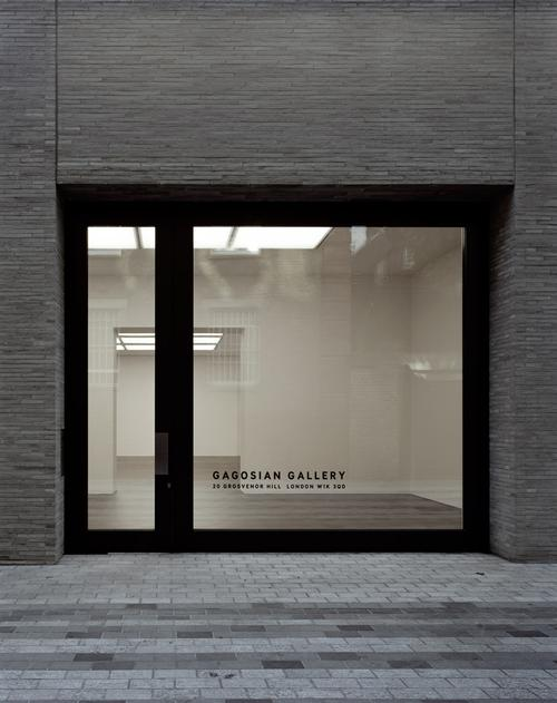 Gagosian's gallery in Mayfair includes two large windows, which offer natural light and access for larger arriving artworks