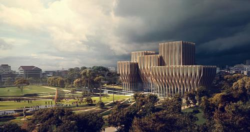 The centre will be the first wooden structure designed by Zaha Hadid / ZHA