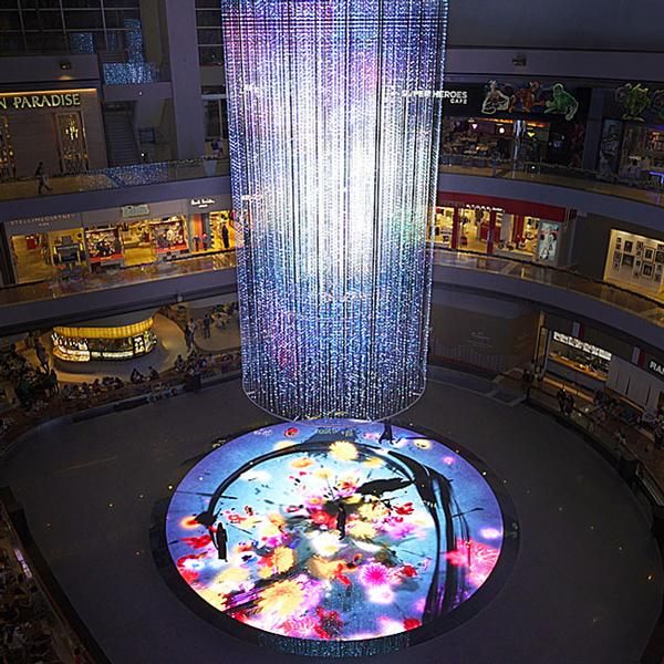 Digital Light Canvas is a permamnent exhibition at the Marina Bay Sands in Singapore