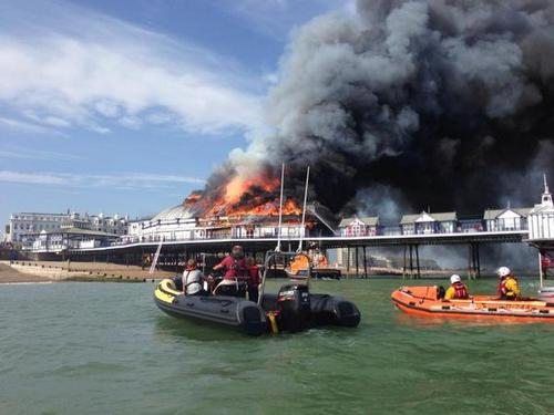 Significant part of Eastbourne Pier destroyed in fire