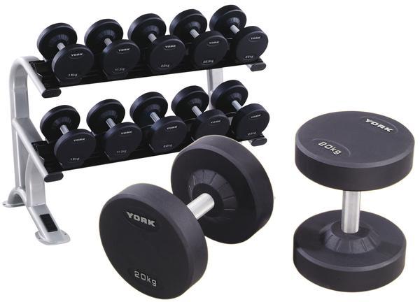 York's Pro Style Dumbbells strength line