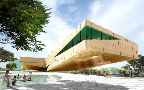 Groosman unveil extreme cantilever design for Kigali Art & Culture Centre in Rwanda