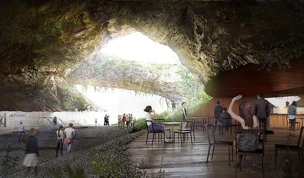 The museum will explore the Philippines' cultural history. The design features jungles, streams, waterfalls and ponds / KENGO KUMA & ASSOCIATES