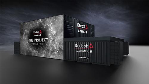 The Reebok-Les Mills pop-up box will tour globally to showcase The Project