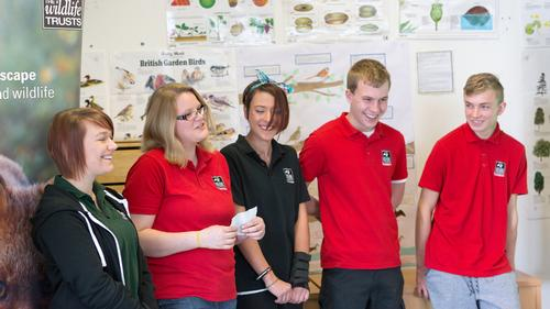 The trainees were appointed through the Skills for Wildlife Scheme / Wildlife Trusts