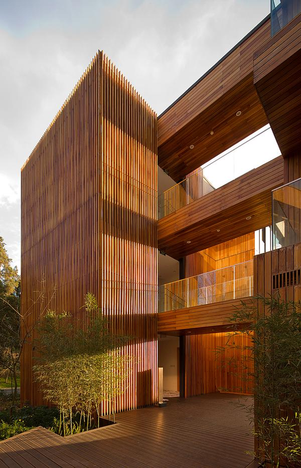 Bamboo is the primary building material for the Innhouse Eco Hotel in Kunming