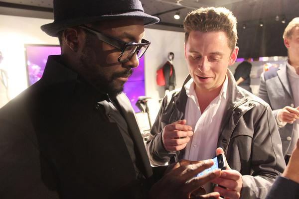 Hip-hop artist will.i.am, pictured here with CEO Laurence Kemball-Cook,  is one of Pavegen's  celebrity ambassadors